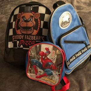 3 Mini Backpacks ( selling together)